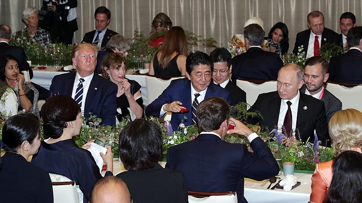 Hojas de shiso, caldo dashi y sake de sakura: La cena de los líderes del G20 en la cumbre de Osaka
