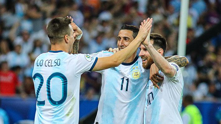 Argentina superó con claridad a Venezuela y será rival de Brasil en una de las semifinales de la Copa América