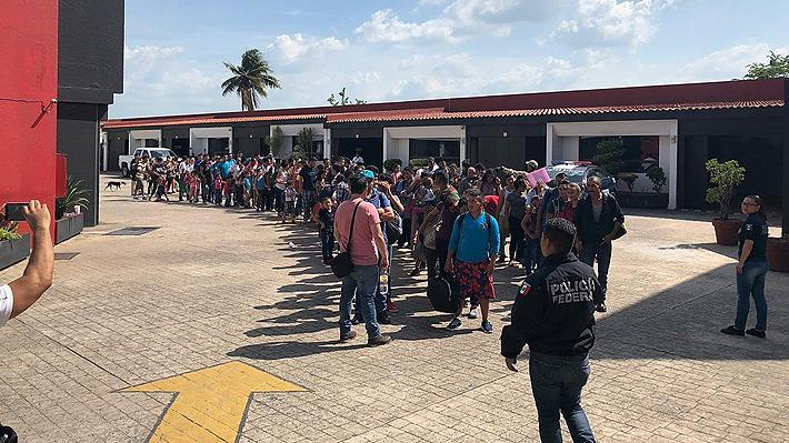 Policía de México encuentra a 147 migrantes en un hotel del sur del país