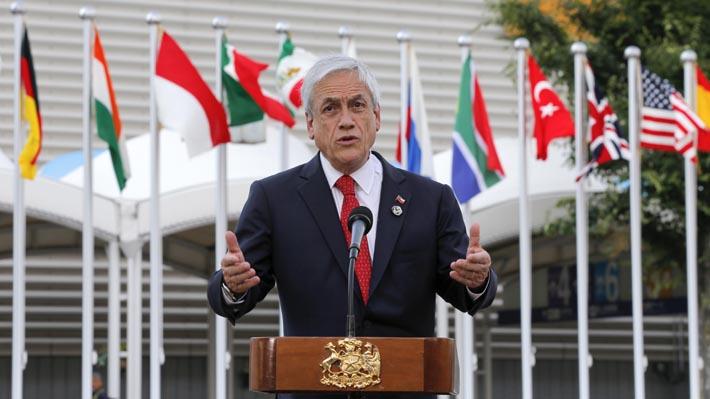 """Piñera llama a """"pasar de las palabras a la acción"""" ante cambio climático y plantea """"compromisos más exigentes"""" en COP25"""