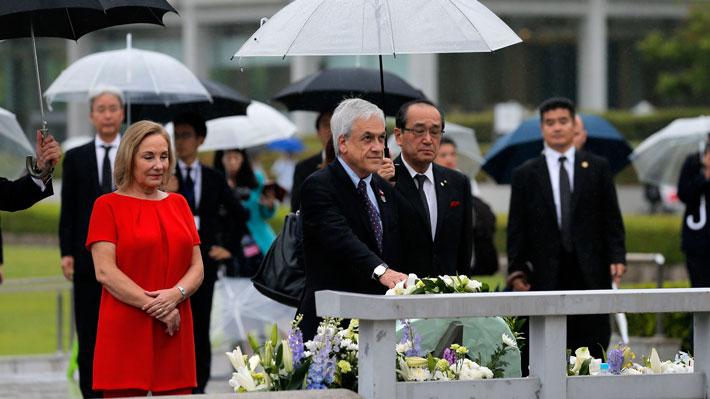 """Piñera realiza visita a Hiroshima y dice que """"la gran cruzada es lograr que el mundo sea sin armas nucleares"""""""