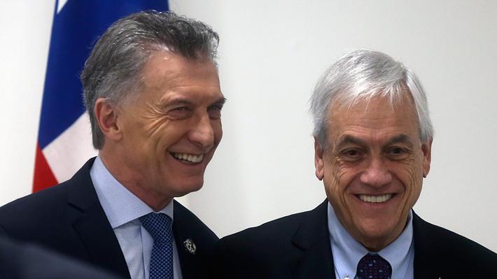 """Piñera felicita a Macri por acuerdo entre Mercosur y la UE: """"Abre un mundo de oportunidades de crecimiento y desarrollo"""""""
