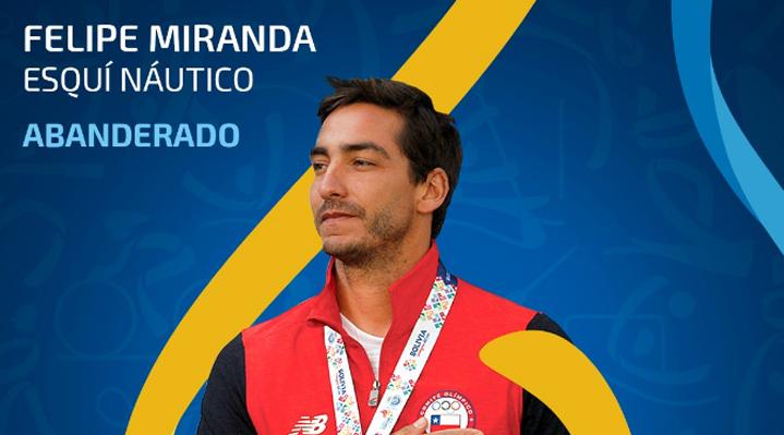Felipe Miranda será el abanderado de Chile en los próximos Juegos Panamericanos de Lima 2019