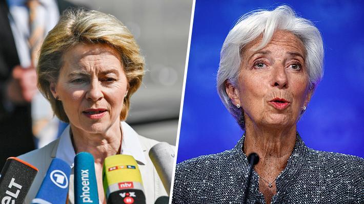 Von der Leyen y Lagarde, las dos mujeres elegidas para llevar las riendas de Europa