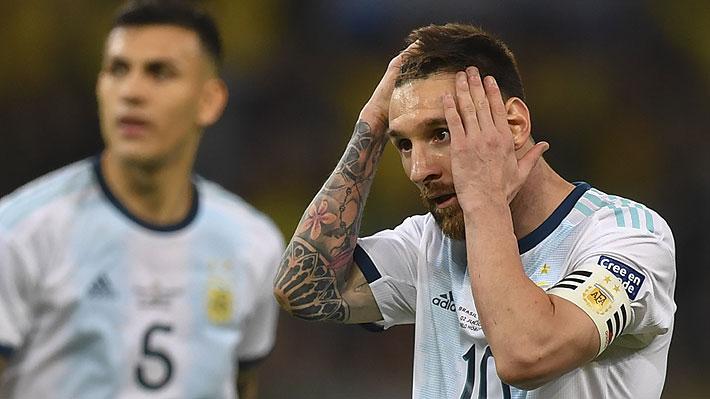 Las imágenes de la amargura y frustración de Lionel Messi tras quedar otra vez sin opciones de ganar un título con Argentina