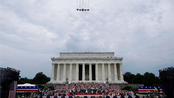 Trump celebra el Día de la Independencia con amplia exhibición militar y un discurso marcado por el patriotismo