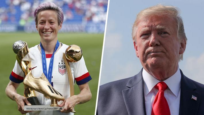 Enfrentamiento entre Trump y Rapinoe revive las diferencias entre el Mandatario y connotados deportistas de EE.UU.