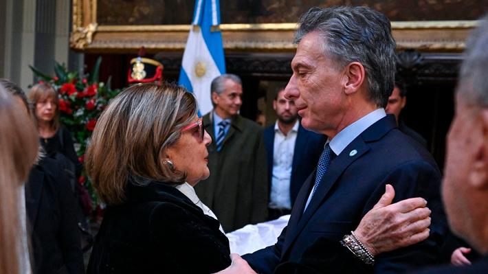 Con la presencia del Presidente Macri, comenzó el velatorio de Fernando de la Rúa en Argentina