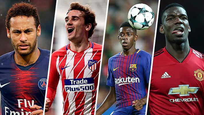 De Neymar a Pogba: Las grandes estrellas que cambiarían de club y los equipos a los que podrían ir