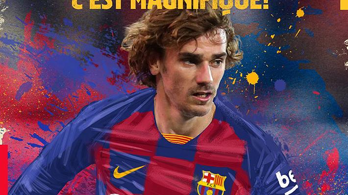 Barcelona oficializa el arribo del francés Antoine Griezmann por cinco temporadas