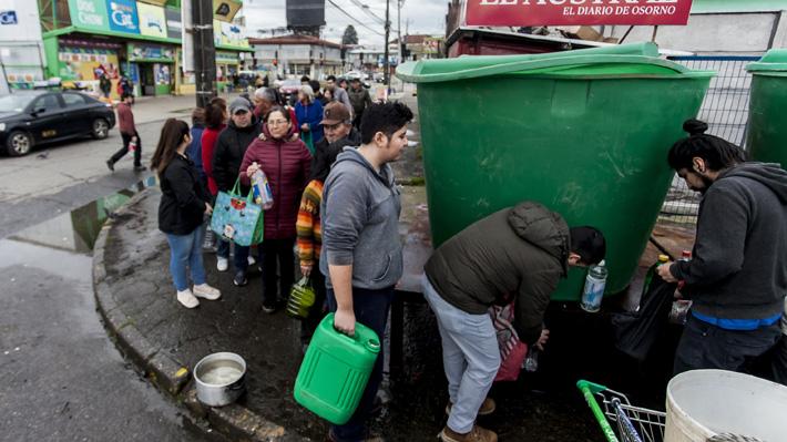 Corte de agua en Osorno: Alcalde cifra en 40 mil los hogares afectados y SISS dice que multas podrían llegar a $588 millones