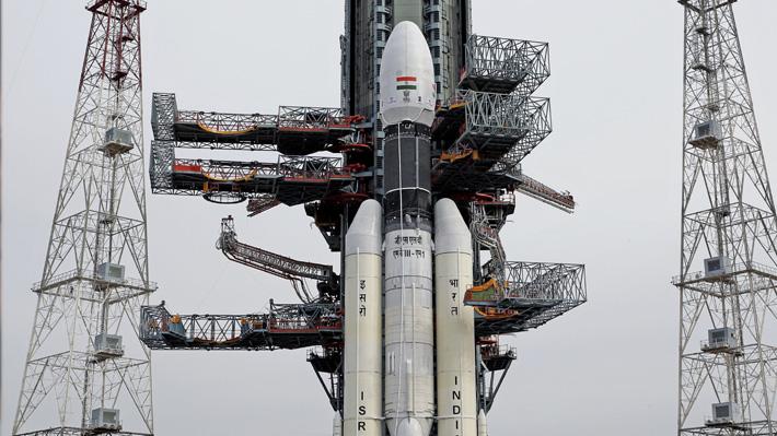 """Lanzamiento de misión india Chandrayaan-2 fue suspendido debido a un """"inconveniente técnico"""""""