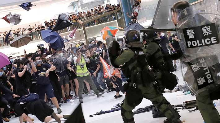 """Gobierno de Hong Kong tilda de """"matones"""" a los responsables de violencia en las últimas manifestaciones"""