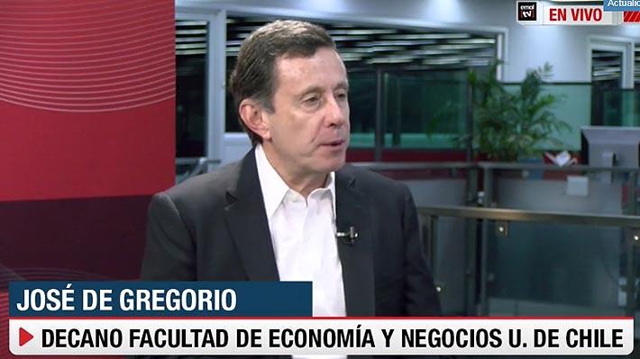 """De Gregorio asegura que """"por aritmética"""" es difícil crecer al 3% este año:  """"No se ve que próximos meses van a ser más fuertes"""""""