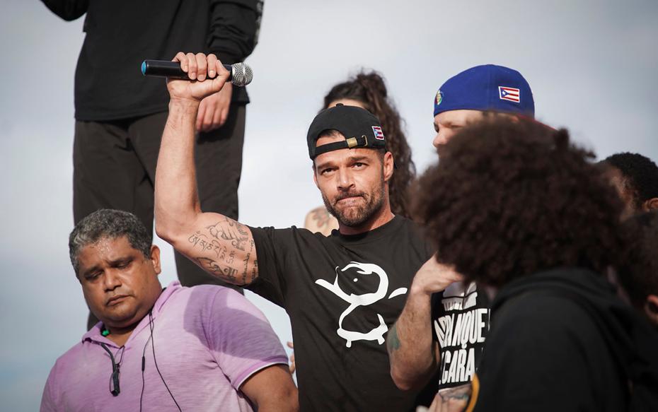 Galería: Ricky Martin, Bad Bunny y Residente lideraron protesta para exigir la salida del gobernador de Puerto Rico