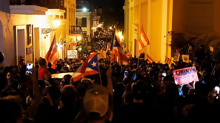 Puertorriqueños salieron en masa a las calles para exigir la renuncia de su gobernador