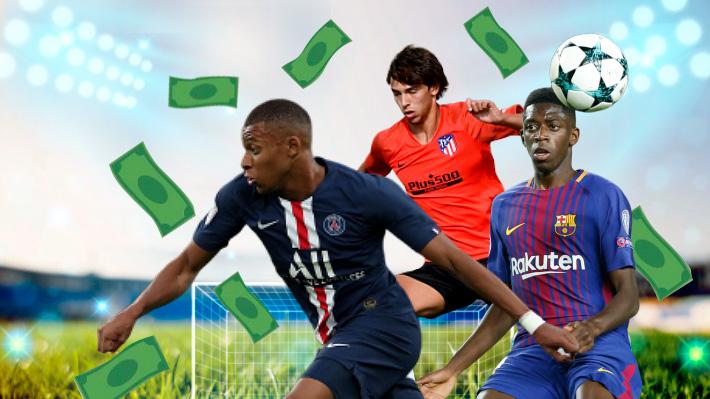 Quiénes son hasta hoy los jugadores menores de 21 años más caros en la historia del fútbol