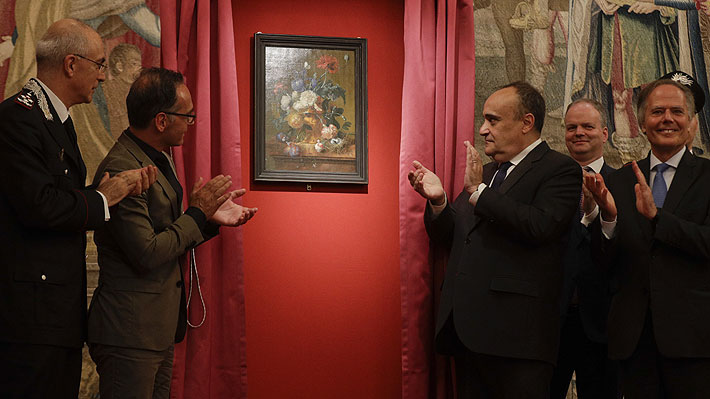 Histórico cuadro regresó a Italia 75 años después de que fuera robado por los nazis y tras una larga batalla judicial