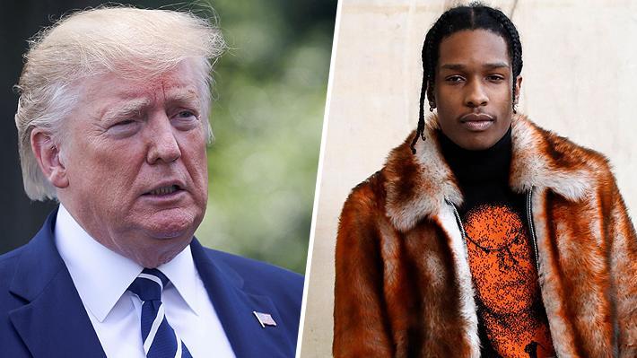 """Trump intercede ante el Primer Ministro sueco por detención de rapero ASAP Rocky: """"No representa peligro de fuga"""""""
