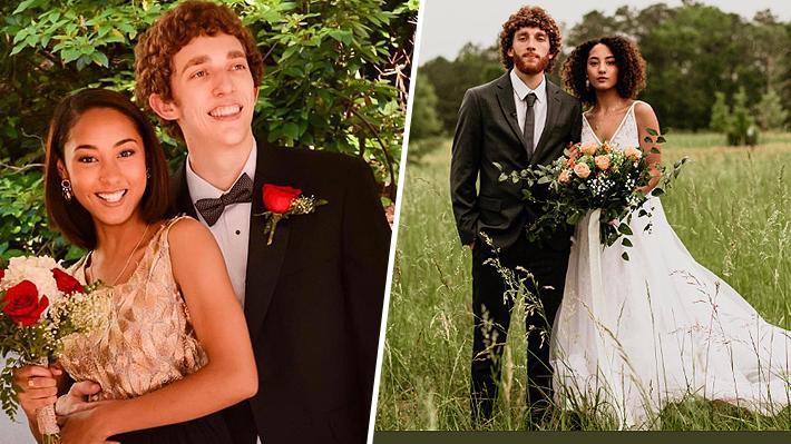 El conmovedor viral que muestra la transformación de parejas desde la graduación hasta su matrimonio