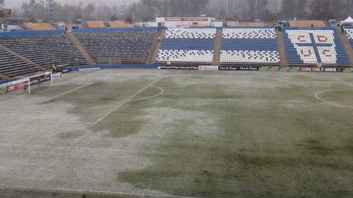 Suspendido UC-Santiago Morning por Copa Chile: Mira cómo está la cancha y por lo que no se pudo jugar