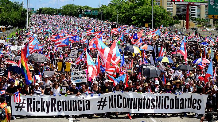 Galería: Puerto Rico sale otra vez a las calles y realiza paro general para exigir la salida de su gobernador