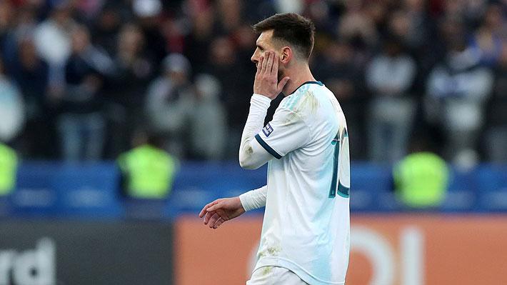 Conmebol anuncia una fecha de castigo y una multa económica contra Messi por su expulsión ante Chile por la Copa América
