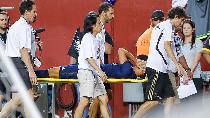 Delantero del Real Madrid sufre grave lesión en amistoso y estará al menos seis meses fuera
