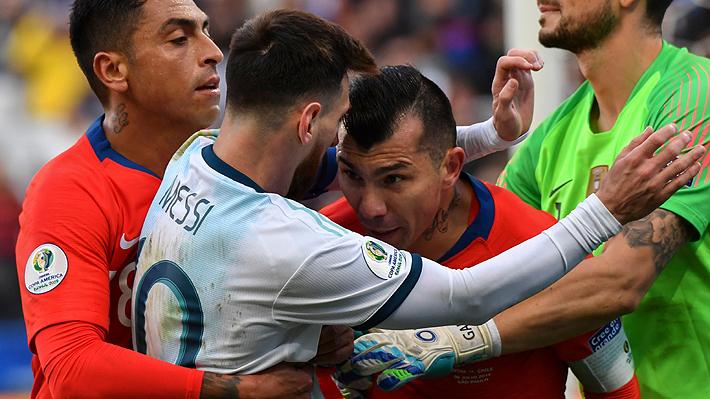 Conmebol castiga a Medel con una fecha de suspensión y el pago de una multa tras incidente con Messi