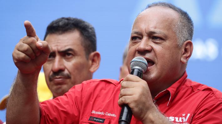 """Diosdado Cabello asegura que Venezuela está lista para una """"guerra absoluta"""" con EE.UU."""