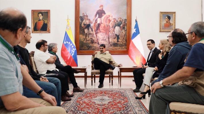 """Maduro tras reunirse con delegación chilena en el Foro de Sao Paulo: """"Estoy seguro que Chile recobrará el camino de Allende"""""""