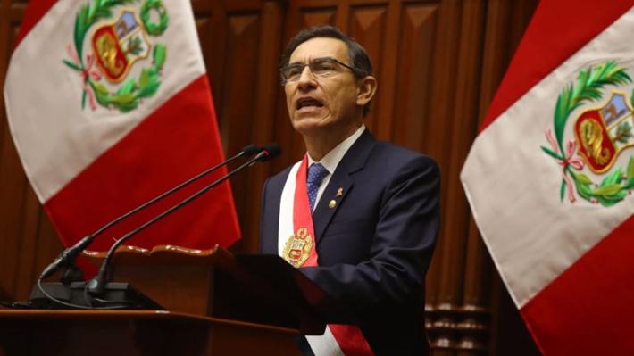 Vizcarra propone acortar su propio mandato y adelantar en un año la elección presidencial en Perú