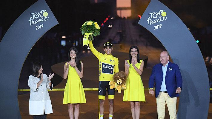 """""""¡Viva Francia!, ¡Viva Colombia!"""", dice el colombiano Bernal tras coronarse en histórico Tour de Francia"""