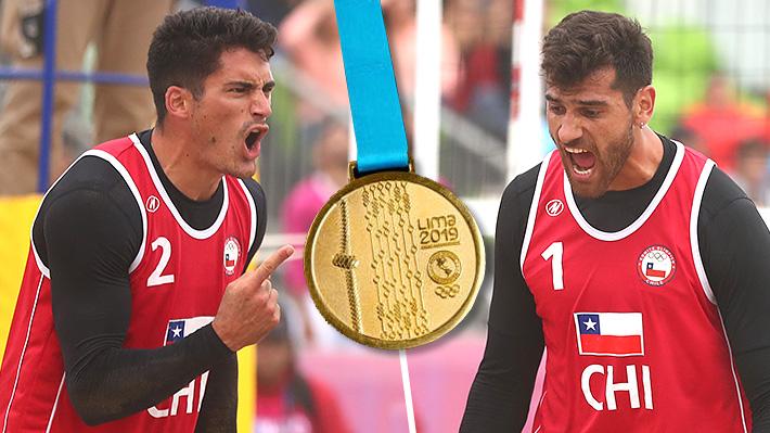 Los Grimalt hacen historia... Le dan a Chile su tercer oro en Lima 2019 y la 1ª medalla de vóleibol playa en unos Panamericanos