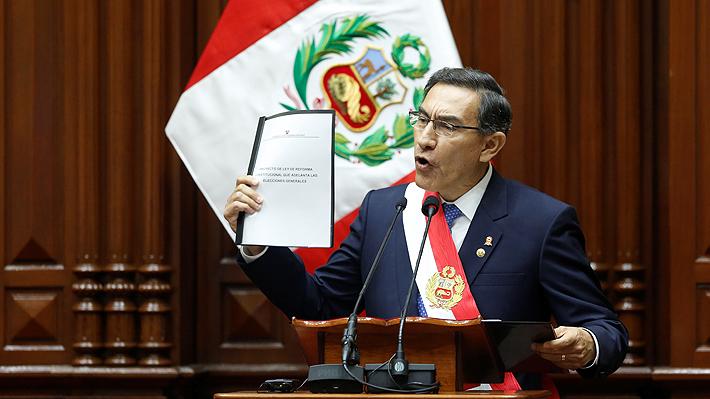 Gobierno de Perú presenta en el Congreso proyecto para adelantar las elecciones y acortar su mandato