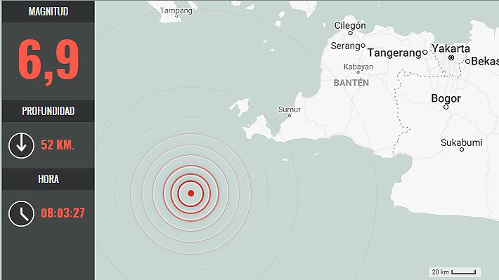 Sismo de magnitud 6,9 afecta a Indonesia y autoridades emiten alerta de tsunami
