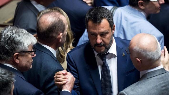 La Liga de Salvini presenta una moción de censura en contra del primer ministro italiano