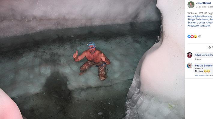 """Austríaco intentará romper récord mundial dentro de una cabina repleta de hielo: """"Quiero llegar a las dos horas"""""""