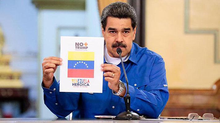 """Maduro agita redes sociales con protesta """"No más Trump"""" por bloqueo de EE.UU"""