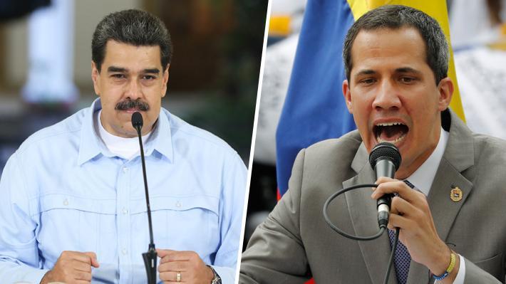"""Maduro llama """"gusano despreciable"""" a Guaidó y lo culpa del bloqueo económico de EE.UU."""