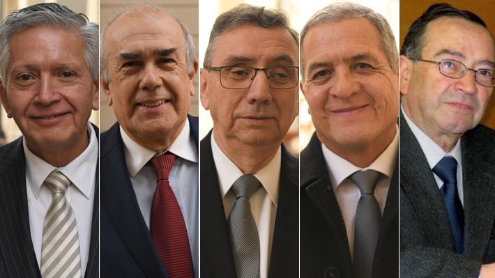 Quiénes son los cinco ministros que integran la quina para llegar a la Corte Suprema