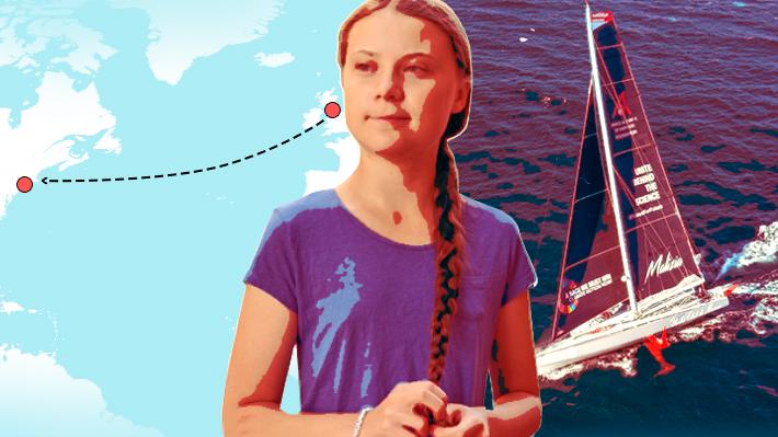"""Cómo es la travesía que inicia Greta Thunberg a través del Atlántico en un velero """"cero carbono"""""""