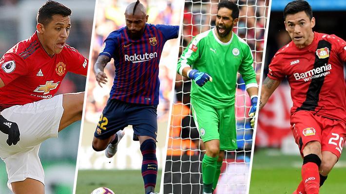 El dispar presente de los chilenos en Europa... ¿Con qué opciones se perfilan para ser titulares en sus equipos?