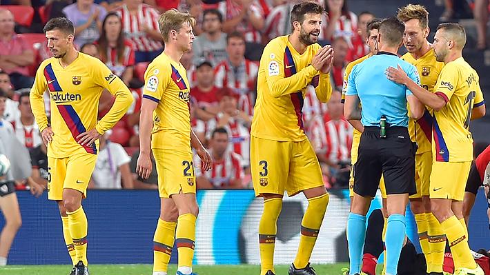 El Barcelona sin Vidal cayó sorpresivamente ante el Athletic de Bilbao en el debut de la Liga de España