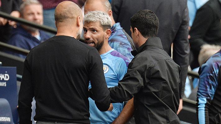 La acalorada discusión entre Guardiola y Agüero que encendió el empate del City ante el Tottenham