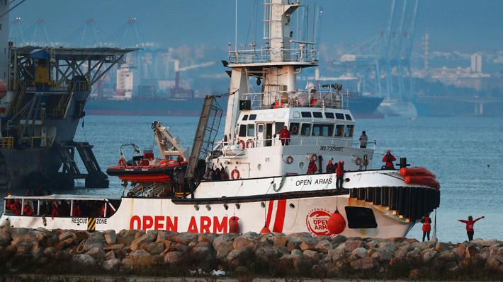 """""""Open Arms"""" rechaza oferta para desembarcar migrantes en España: """"Es absolutamente inviable"""""""