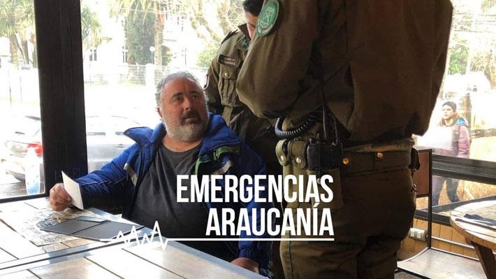"""Por tercera vez en una semana detienen a turista conocido por hacer """"perro muerto"""" en La Araucanía"""