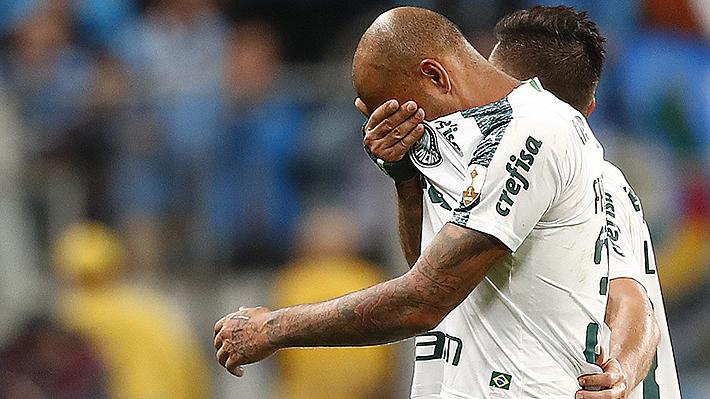 Rompió en llanto... El desconsuelo de Felipe Melo al sufrir la decimoctava expulsión en su carrera