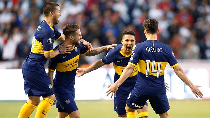 Uno fue con un impecable tiro libre: Mira los golazos de Boca sobre Liga de Quito en cuartos de la Libertadores