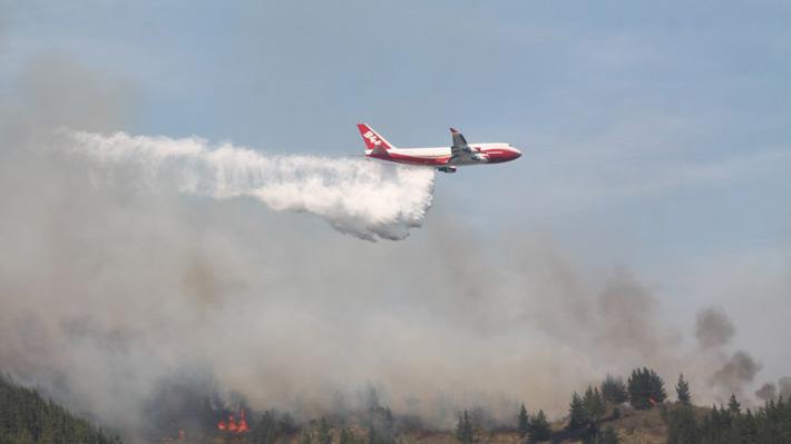 Avión SuperTanker aterrizó la madrugada de este viernes en Bolivia para combatir incendio forestal